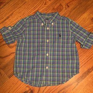 Ralph Lauren Long Sleeve Button Up Shirt - 24m